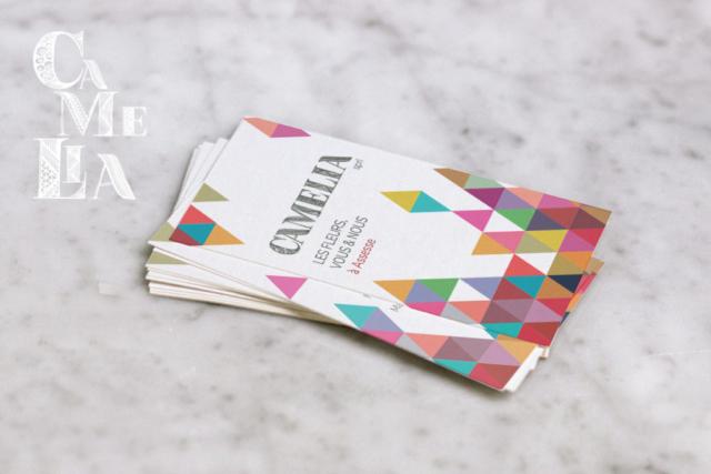 carte visite fleuriste logo design