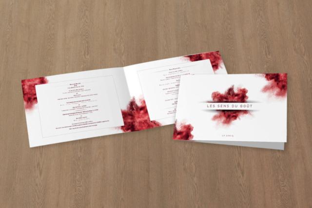 création design menu restaurant