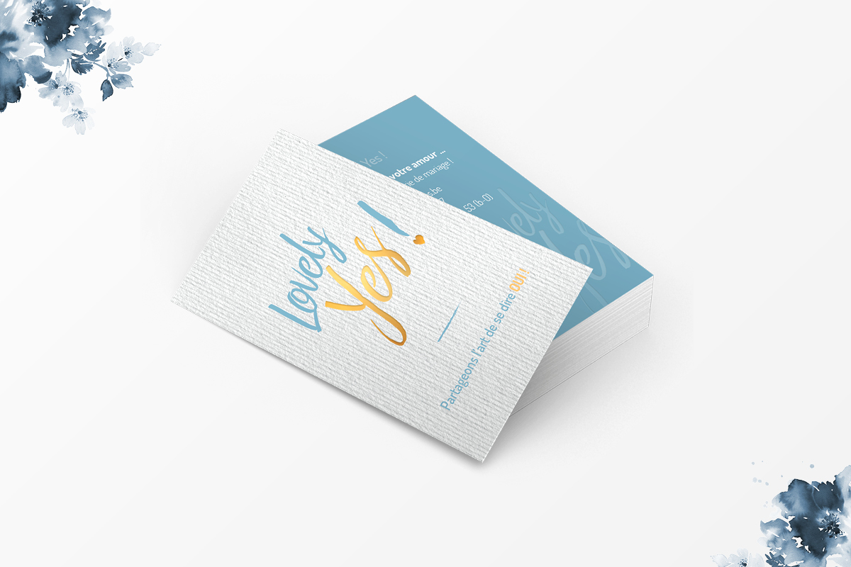 carte visite luxe design