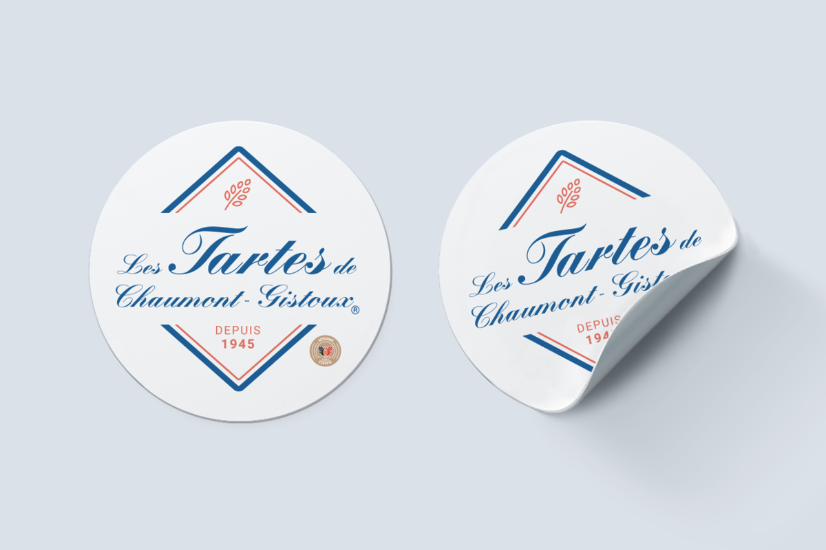 autocollant logo packaging