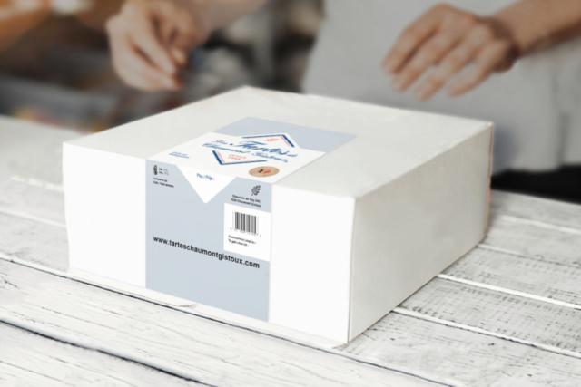 etiquette autocollante packaging